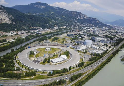 Aerial view of the European Synchrotron, ESRF, Grenoble, France.