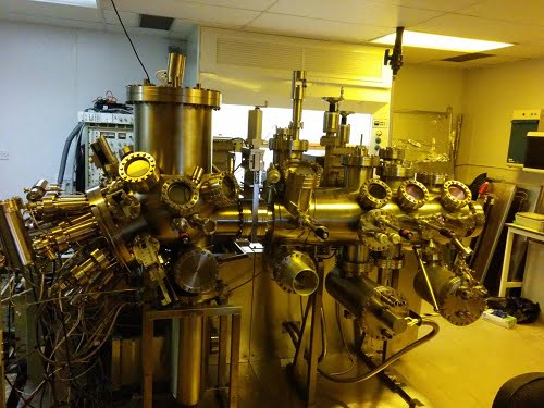 This is one of the molecular beam epitaxy reactors at Lancaster University used to grow quantum rings.