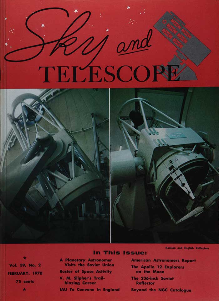 The cover of Sky and Telescope, February 1970.