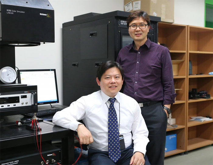 DGIST research team  working on a titania photocatalyst for converting carbon dioxide to fuel more efficiently.