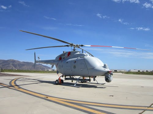 The MQ-8 Firescout (pictured) will carry the night time illuminator from Bodkin Design, along with other mission critical payloads. Courtesy of Bodkin Design.