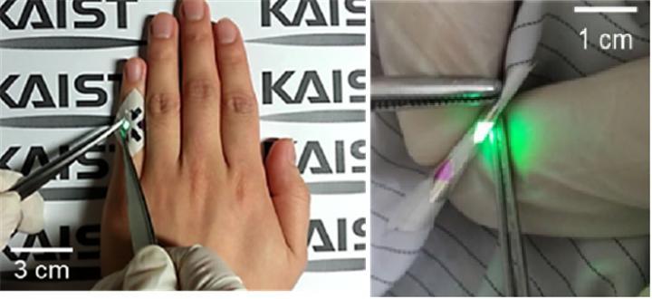 OLEDs operating in fabrics, KAIST.