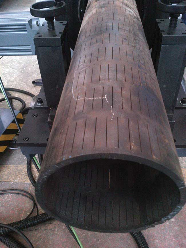 Slotted liners used for heavy oil production incorporate thousands of slots cut to specification.
