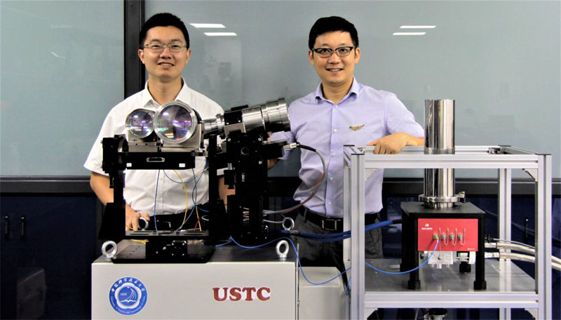 Mingjia Shangguan and Haiyun Xia from the University of Science and Technology of China were part of a research team that developed a new Doppler LiDAR system.