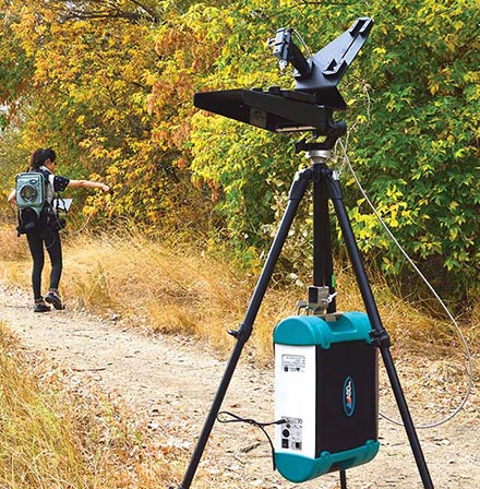 Collecting spectral data in the field using the ASD FieldSpec 4 and FieldSpec Dual Collection software system.