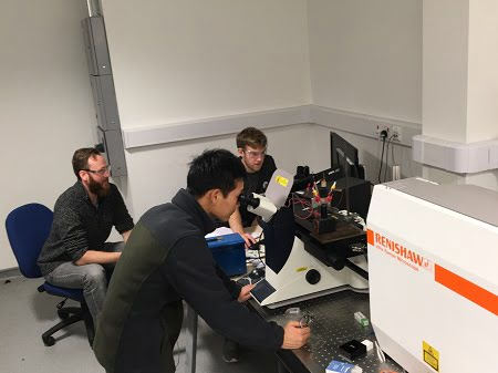 Prof Laurence Hardwick and colleagues use their Renishaw inVia Raman microscope to perform operando electrochemical measurements.