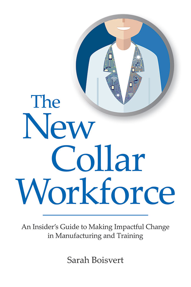 The New Collar Workforce by Sarah Boisvert, cover art.