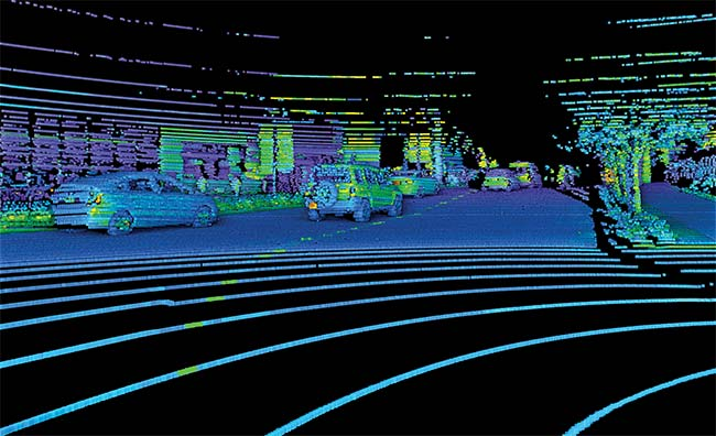 For Self-Driving Cars, Sensors Galore