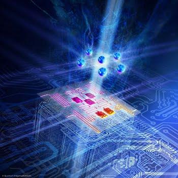 Illustration of a quantum computing domain.