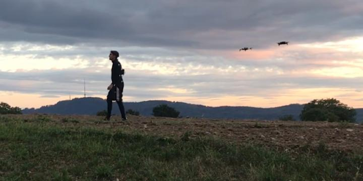 Actors' movements can be easily recorded using commercial drones, which greatly reduces the technical effort required for animated film. Courtesy of ETH Zurich/Tobias Nägeli.