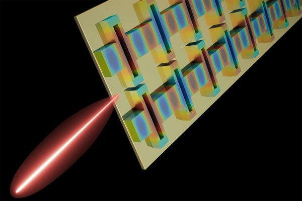 A tiny terahertz laser designed by MIT researchers is the first to reach three key performance goals at once: high power, tight beam, and broad frequency tuning.