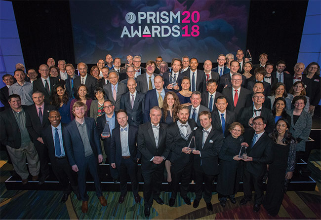 2018 Prism Award winners. Courtesy of SPIE.