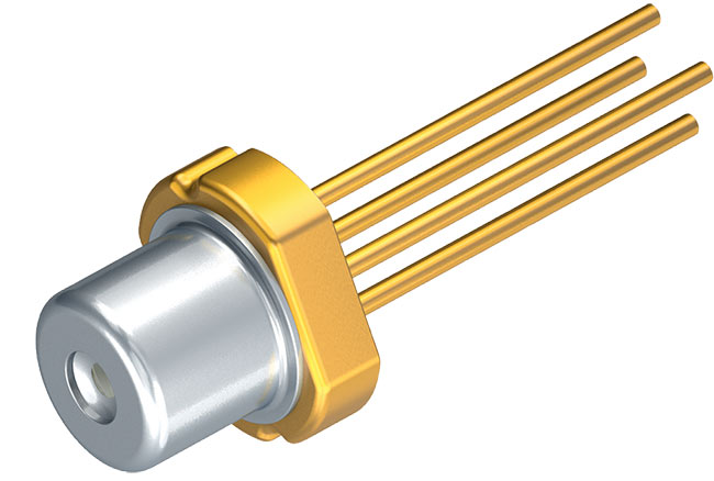 Figure 4. Osram green laser diode PL 520. This device emits 30 mW of optical power at 515 nm. Courtesy of Osram Optosemiconductors.
