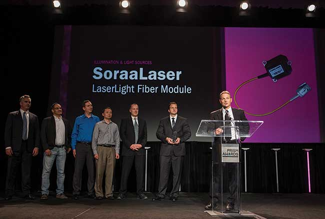 SoraaLaser, of California (U.S.), receives the Prism Award for its innovation in Illumination and Light Sources.