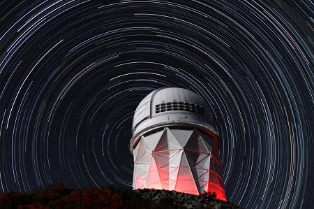 This is the Kitt Peak National Observatory. Courtesy of P. Marenfeld & NOAO/AURA/NSF.