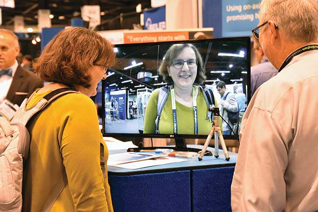 Product demonstrations held throughout DCS put new technologies and innovation in focus.