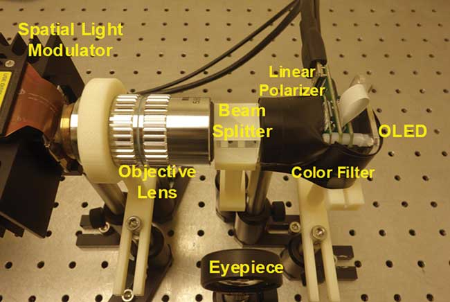 Optical setup of an OMNI display.
