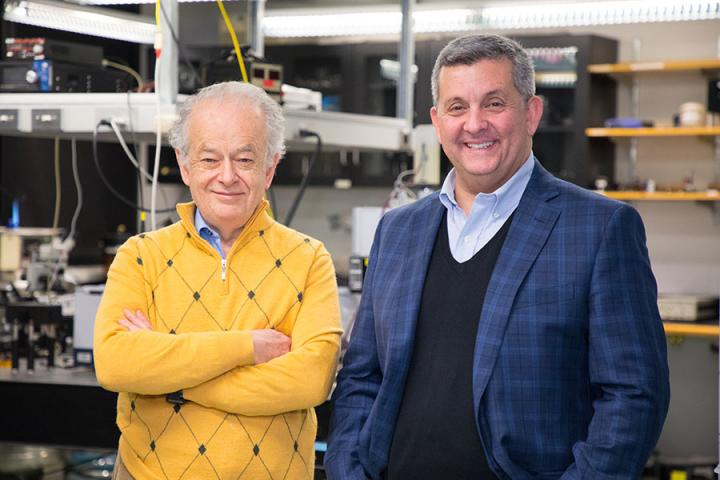 Professor Federico Capasso, Harvard University and Daniel Lopez, Argonne National Laboratory.