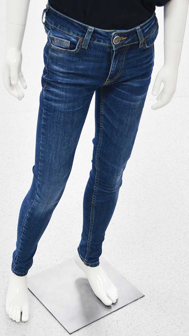 Jeans with special effects produced by a Rofin-Sinar CO2 laser.