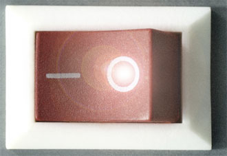 Illustration of a photoswitch, for the MURI project. UCSB.