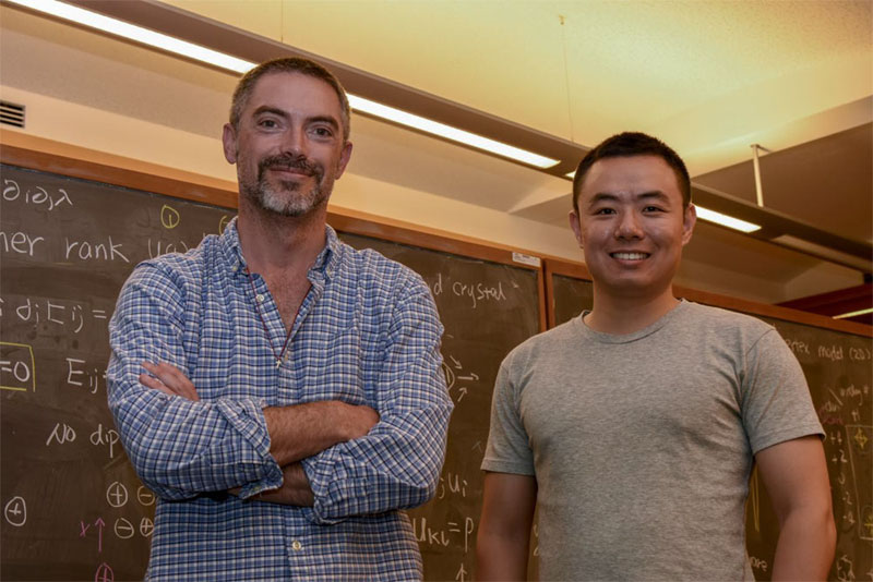 Nic Shannon and Han Yan of the OIST Theory of Quantum Matter Unit.