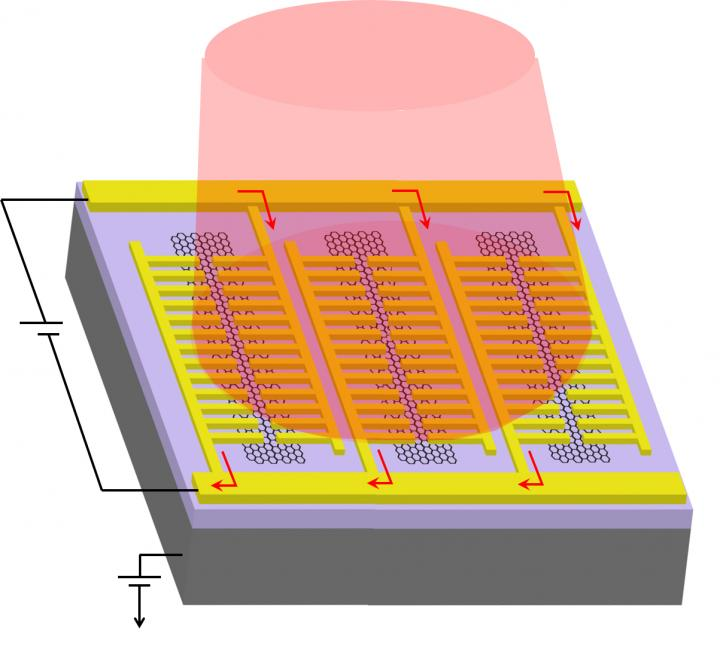 Graphene photodetector, UCLA.