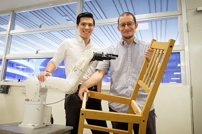 Scientists at NTU Singapore develop robot for furniture assembly. Courtesy of IDS Imaging Development Systems GmbH.