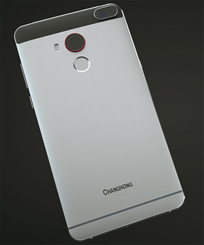 The back of the Changhong H2 features sensor technology from Consumer Physics.