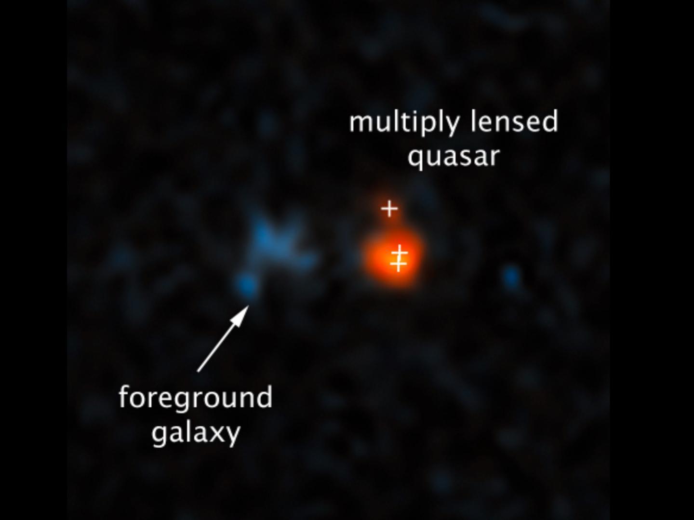 Far distant quasar, Gemini Observatory.