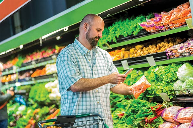 Consumers will soon be able to use their smartphones to check food freshness at the supermarket. Courtesy of OSRAM.