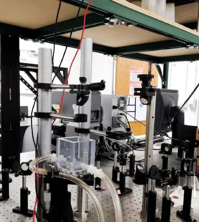 Part of the femtosecond laser setup in professor Chunlei Guo's lab. Courtesy of Rubins J. Spaans.