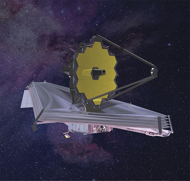 Figure 3. A rendering of the James Webb Space Telescope. Courtesy of Northrop Grumman.