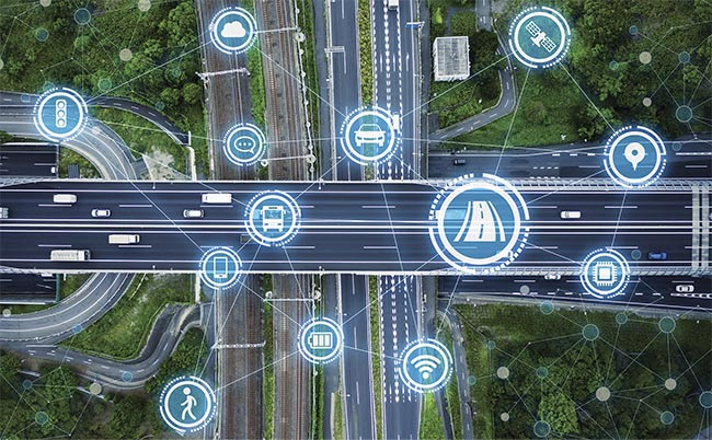 Sensors monitor roadways in real time, allowing analysts to extract data such as average traffic speed and congestion.