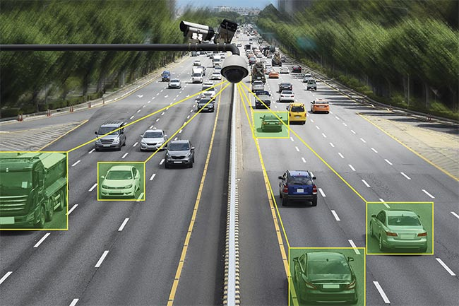Intelligent transportation systems include sensing and imaging technologies that monitor vehicle congestion.