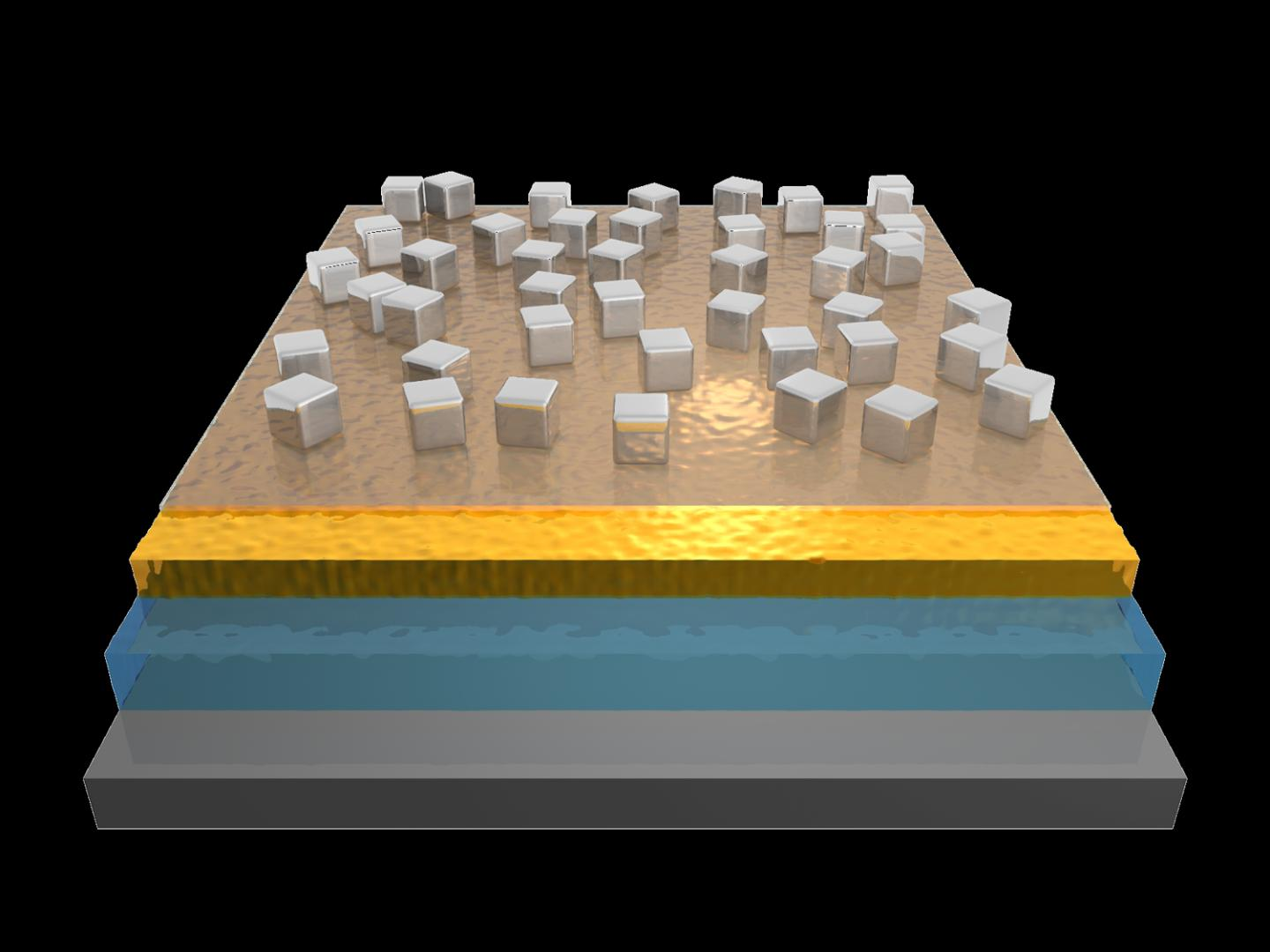 The new photodetectors are built from three layers. Jon Stewart, Duke University.