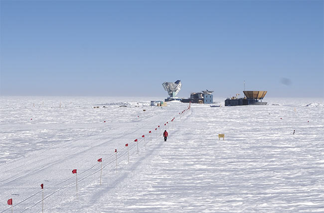 The Amundsen-Scott South Pole Station, November 2019. Courtesy of John Kovac.