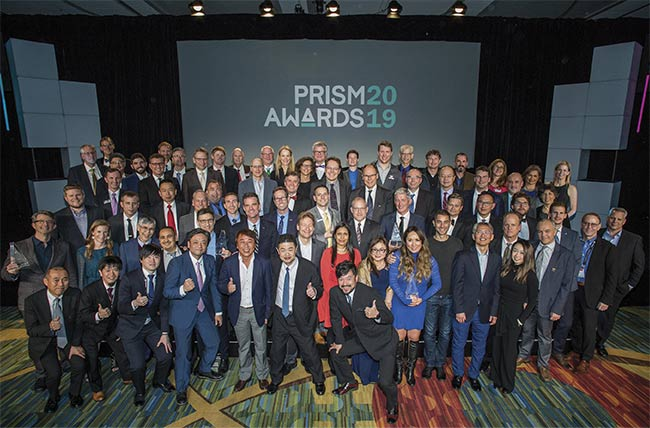 The 2019 Prism Award winners pose for a group photo.