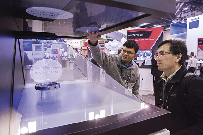 The ability to touch and feel products is a great way to understand options and ask questions. Courtesy of SPIE.
