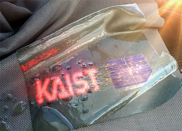 Self-powered, washable wearable display technology, KAIST.
