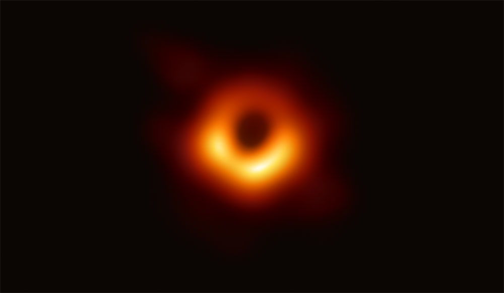 First photograph of black hole, April 2019.