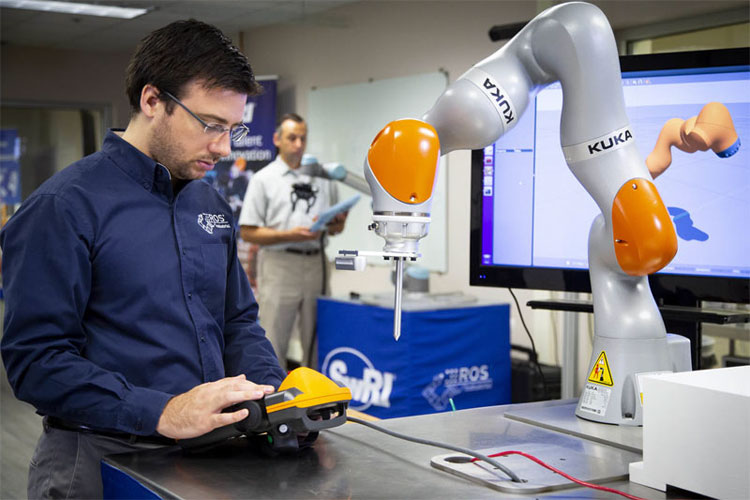 Robotic machine vision solution for shiny objects, SwRI.