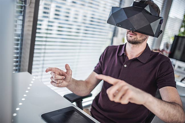 Figure 1. The XTAL VR headset created by VRgineers uses freeform, non-Fresnel, aspherical lenses to provide wide fields of view. Courtesy of VRgineers.