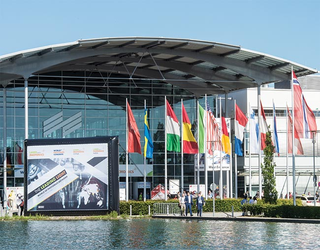 West entrance, LASER World of PHOTONICS