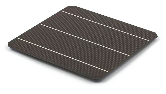 Figure 2. A full-size version of Oxford PV's perovskite-silicon tandem solar cell. Courtesy of Oxford PV.