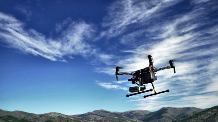 Using drones to fight forest fires in Spain, Telefonica, UC3M.