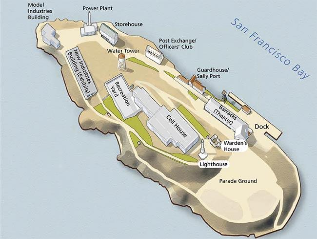 Alcatraz Map Courtesy of NPS.