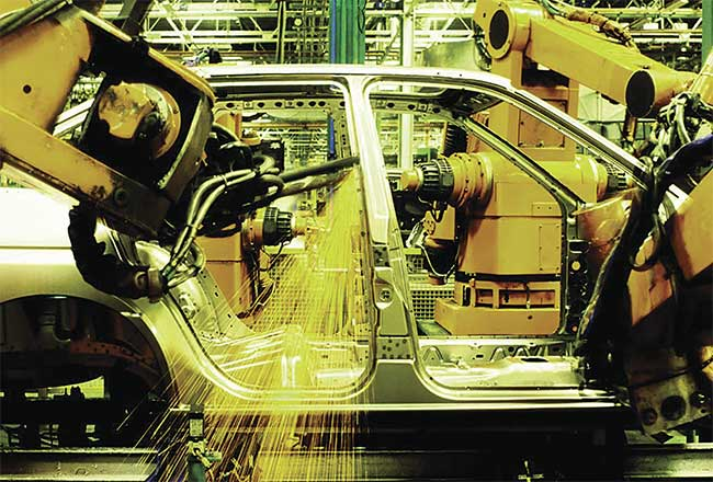 The automotive industry was one of the first to embrace machine vision. Courtesy of Teledyne DALSA.