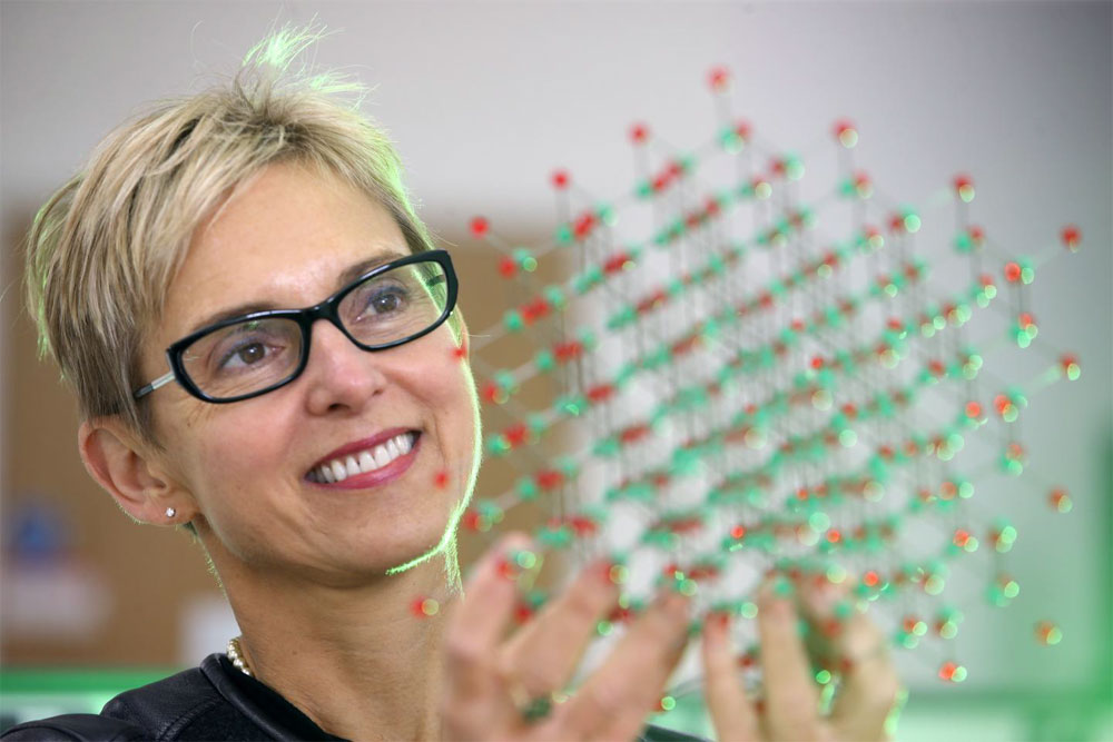 Professor Diana Huffaker, Institute for Compound Semiconductors, Cardiff University. Courtesy of Mike Hall Photography.