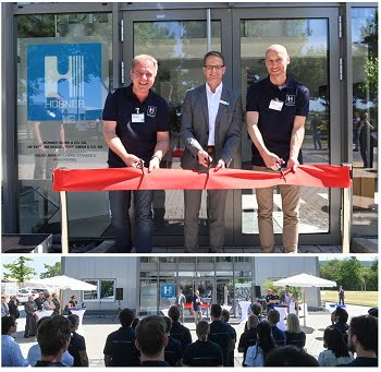 Officials from HÜBNER Photonics cut the ribbon on the new facility located in Kassel, Germany. Courtesy of HÜBNER Photonics.