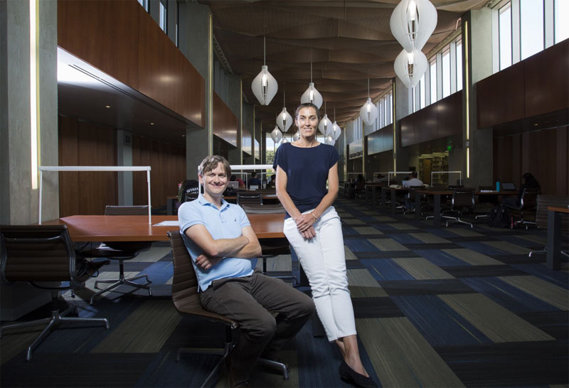 Professors Stephen Wilson and Ania Bleszynski Jayich will co-direct the campus's new Quantum Foundry. Matt Perko, UC Santa Barbara